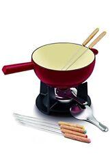 Appareils service à fondue rouges à fondue et raclette