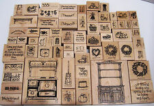 Stampin Up Love Bakes Country Cupboard Rubber Stamp Lot of 67 SEE BELOW