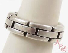 Sterling Silver Vintage 925 Rare Hinged Linked Ring Sz 7 (12g) - 745859