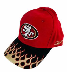 Vintage San Francisco 49ers NFL Logo On Fire Flame Adjustable Hat Cap Rare NWOT