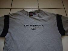 Harley Davidson Motorcycle Shreveport Gray sewn logo biker T Shirt Adult size M