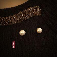 Broche Deux Perle Pike Baroque Vintage Style Original Mariage XZ 4