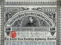 The Costa Rica Railway Company Limited, 1886,  First Mortgage Debenture (100)