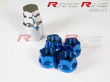 Blue Locking Wheel Nuts x 4 12x1.5 mm Fits Mitsubishi EVO Lancer FTO GTO