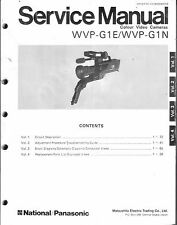 National Panasonic  Original Service Manual für WVP-G 1E
