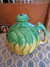 Vintage Lamp Base majolica CLIFTWOOD art pottery antique drip lamp pitcher style