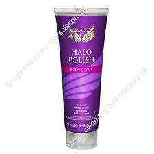 Crazy Angel Halo Polish Body Scrub Exfoliate Self Tan Moisturising Skin 250ml
