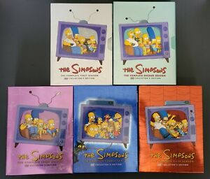 THE SIMPSONS - Seasons 1 2 3 4 5 - Complete Collectors Edition Box Sets DVD's