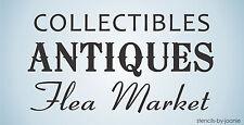 Antique Stencil Collectible Paris Flea Market Shop Store Cottage Art Diy Signs