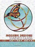 Modern Designs Stained Glass Pattern Book Dover Stained Glass Instruction