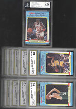 1988 FLEER BASKETBALL COMPLETE STICKER SET W #7 MICHAEL JORDAN - BGS BECKETT 7.5