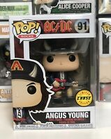 ⭐️AC/DC- Angus Young DEVIL HORNS CHASE EXCLUSIVE #91 Funko Pop Vinyl + Prot⭐