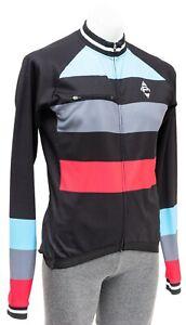 Panache Long Sleeve Thermal Jersey Men MEDIUM Black Road Bike Mountain Gravel