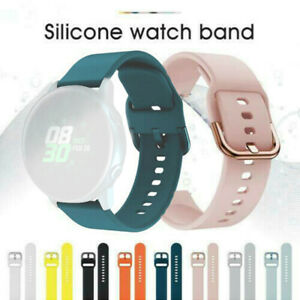20mm Wristband Silicone Sport Watch Band Strap For Samsung Galaxy Watch Active