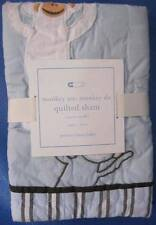 Pottery Barn 1 Monkey See Monkey Do Quilted Sham NWT Cotton 12x16 Small Toddler