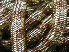 COCOA BROWN GOLD METALLIC STRIPE TUBULAR CRIN CYBERLOX STEAMPUNK