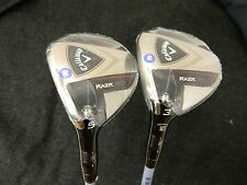 NEW LH SET OF CALLAWAY RAZR FIT 3 & 5 FAIRWAY WOODS REGULAR FLEX WOOD