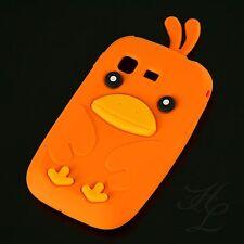 Samsung Galaxy Pocket S5300 Soft Silikon Case Schutz Hülle Etui Chicken Orange