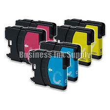 6 Color LC61 Ink Cartridges for Brother DCP-365CN DCP-385CW DCP-6690CN DCP-J125