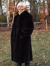 HAUTE GRIFFE Canadian Female MINK Fur Coat Full Length 2XL 3XL 18 20 22 Plus