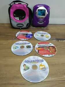 Video Now Color Video Player purple 2004 Hasbro Working Comes w/ 6 Discs + case