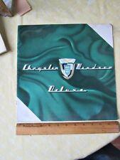 Vintage CHRYSLER WINDSOR DELUXE Automobile BROCHURE,1955.Full Color,Original