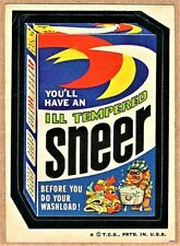 1974 TOPPS WACKY PACKAGES 6TH SERIES SNEER TAN BACK