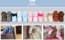 Newborn Soft Warm Socks Baby Boy Girl Crib Shoes Infant Inhouse Crawling Booties