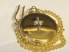 Cross TG300 Pewter on a Gold Pocket Watch Quartz fob