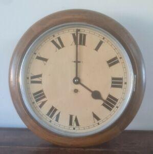 Antique school station dial clock Oak
