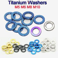 Titanium Washer M4 M5 M6 M8 M10 DIN 125 Flat Bolt-Washers Gaskets Gr5 TI-6Al-4V