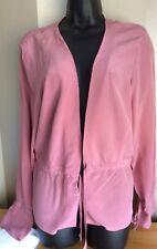 Ladies Monsoon Pink 100% Silk Top Size 18