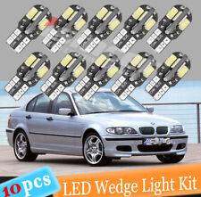 10PCS Canbus T10 194 168 W5W 5730 8 LED SMD White Car Side Wedge Light Lamp USA