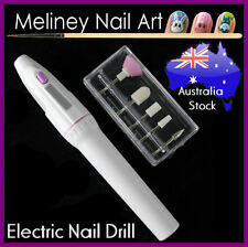 Electric nail drill Art File Buffer Shaper Manicure Sanding Tool Set 5 Bit