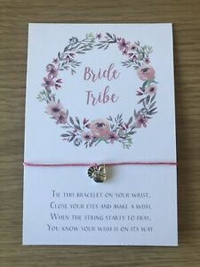 Hen Party Favour Wish Bracelet Bride Tribe