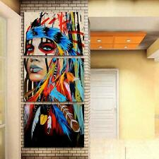 """MODERN ABSTRACT WALL DECOR ART PAINTING ON CANVAS """"no frame"""" Indian Woman S"""