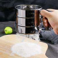 Manual Baking Mesh Flour Icing Sugar Stainless Steel Sifter Sieve Cup Sha.Pro