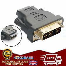 DVI 24+5Pin Male To HDMI Female Connector Adapter Gold Plated