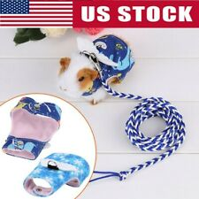 Small Pet Harness Leash Guinea Pig Hamster Rabbit Squirrel Clothes & Lead Set