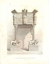 1851 d'architectes français imprimer chaire dans l'Eglise de St Jean un pistoja Italie
