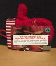 Starbucks 2001 Classic Core Cup Card ~new~ Comes with A Christmas Mitten Sleeve
