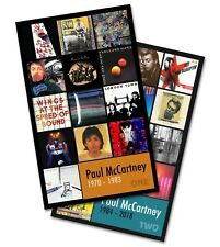"""PAUL McCARTNEY twin pack discography magnet set (two 3.75"""" x 4.75"""" magnets)"""
