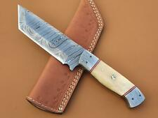 Custom Handmade Damascus Steel Tanto Knife