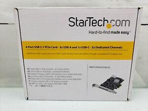 StarTech.com - 3 USB-A and 1 USB-C Ports - Part# PEXUS313AC2V - NEW