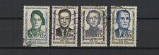 FRANCE 1958 héros de la résistance série complète de 4 timbres oblitérés /T1909