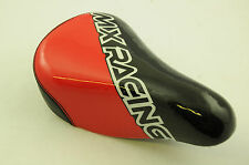 "RALEIGH ""MX RACING"" KIDDIES 12"" BIKE SADDLE, SEAT NO BRACKET RED/BLK WBZP127 NEW"