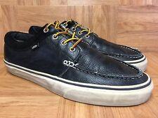 RARE🔥 VANS Skate-Moc Black Leather Moccasin Trainer Sz 12 Gum Sole Sick! Sk8 S