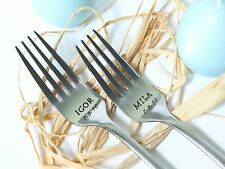 Wedding Forks, Personalized with Names, Mr. and Mrs. Wedding Cake Forks Set