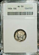 1924 AU 50 MERCURY DIME  S-161