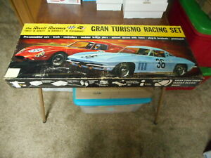 Used Vintage 1964 Revell Gran Turismo Racing Set 1/32 Scale Complete (see pics)